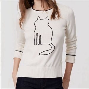NWT Loft sweater cat kitten